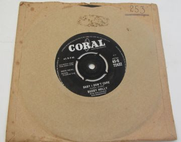 "Buddy Holly BABY I DON'T CARE 1958 UK 7"" ROCK & ROLL EX AUDIO"
